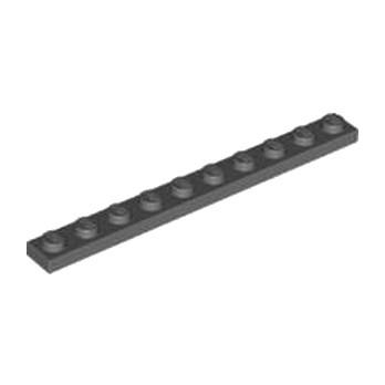 LEGO 4257526 PLATE 1X10 - DARK STONE GREY