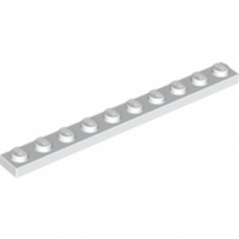 LEGO 447701 PLATE 1X10 - BLANC