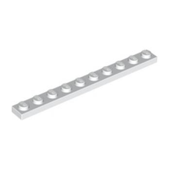 LEGO 447701 PLATE 1X10 - WHITE