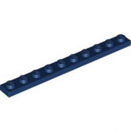 LEGO 6200663 PLATE 1X10 - EARTH BLUE lego-6200663-plate-1x10-earth-blue ici :