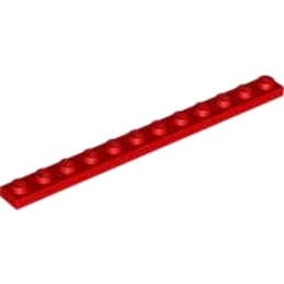 LEGO 4514843  PLATE 1X12 - ROUGE