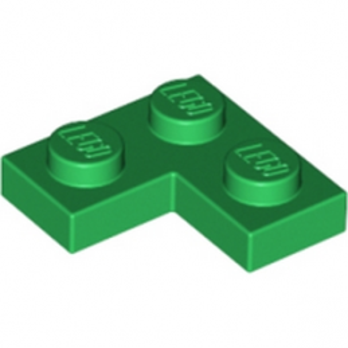 LEGO 242028 PLATE ANGLE 1X2X2 - DARK GREEN