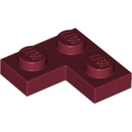 LEGO 4164222 PLATE ANGLE 1X2X2 - NEW DARK RED