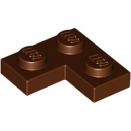 LEGO 4211257 PLATE ANGLE 1X2X2 - REDDISH BROWN