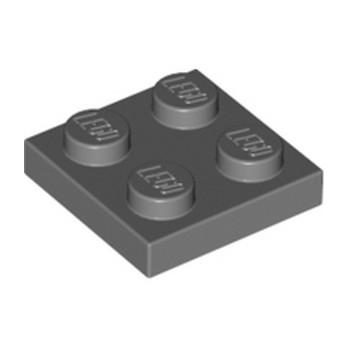 LEGO 4211094 PLATE 2X2 - DARK STONE GREY
