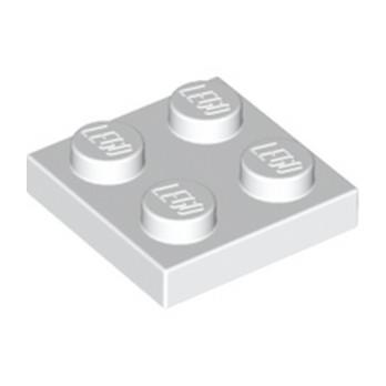 LEGO 302201 PLATE 2X2 - BLANC