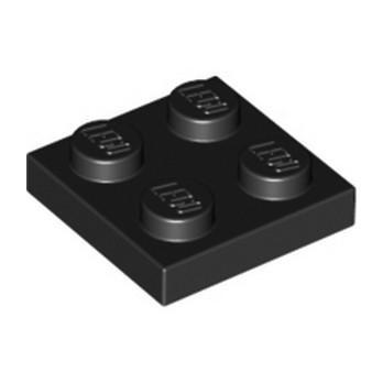 LEGO 302226 PLATE 2X2 - NOIR