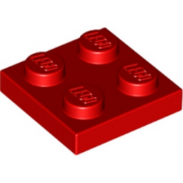 LEGO 302221 PLATE 2X2 - ROUGE