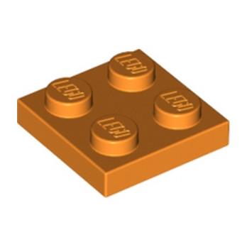 LEGO 3022106 PLATE 2X2 - ORANGE