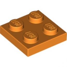 LEGO 3022106 PLATE 2X2 - ORANGE lego-4159007-plate-2x2-orange ici :