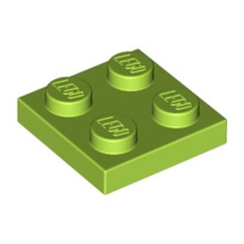 LEGO 4613977 PLATE 2X2 - BRIGHT YELLOWISH GREEN