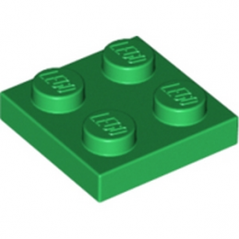 LEGO 302228  PLATE 2X2 - DARK GREEN