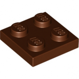 LEGO 4216695 PLATE 2X2 - REDDISH BROWN