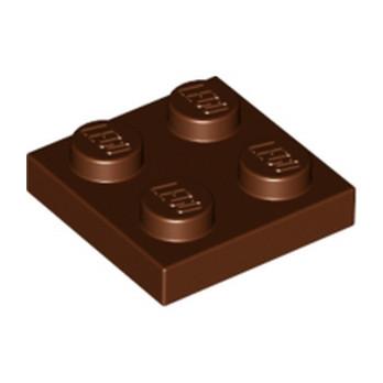 LEGO 4613975 PLATE 2X2 - REDDISH BROWN
