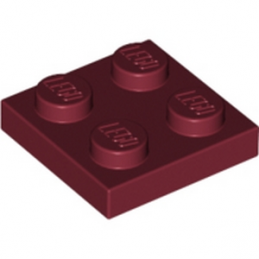 LEGO 4163160 PLATE 2X2 - NEW DARK RED