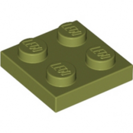 LEGO 6079617 - PLATE 2X2 - OLIVE GREEN