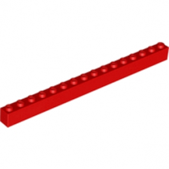 LEGO 246521 BRIQUE 1X16 - ROUGE