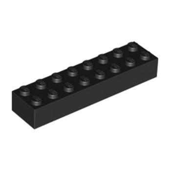 LEGO 300726  BRIQUE 2X8 - NOIR