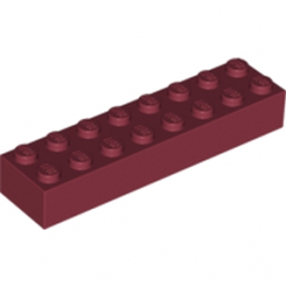 LEGO 6089263 BRIQUE 2X8 - NEW DARK RED