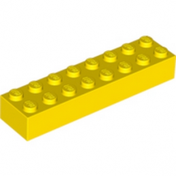 LEGO 300724 BRIQUE 2X8 - JAUNE