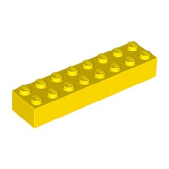 LEGO 300724 BRIQUE 2X8 - JAUNE lego-4639693-brique-2x8-jaune ici :