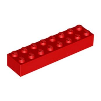 LEGO 300721 BRIQUE 2X8 - ROUGE