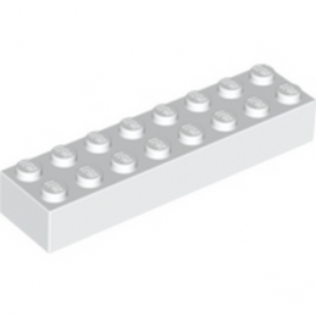 LEGO 300701 BRIQUE 2X8 - BLANC