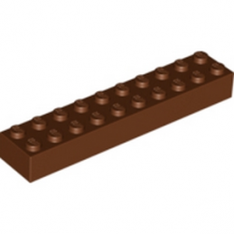 LEGO 4215429 BRIQUE 2X10 - REDDISH BROWN