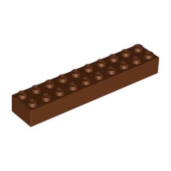 LEGO 6096716 BRICK 2X10 - REDDISH BROWN