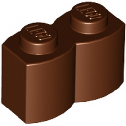 LEGO 4211180 BRIQUE PALISSADE 1X2 - REDDISH BROWN