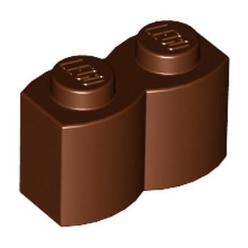 LEGO 4211180 PALISADE BRICK 1X2 - REDDISH BROWN