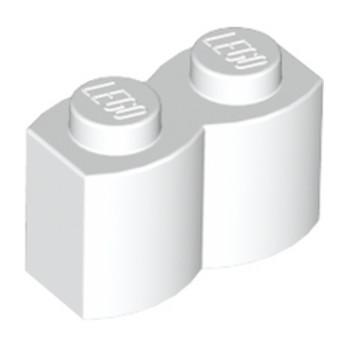 LEGO 4114328 BRIQUE PALISSADE 1X2 - BLANC lego-6059185-brique-palissade-1x2-blanc ici :