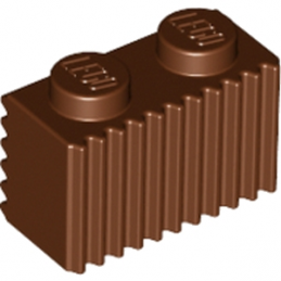 LEGO 4223303 BRIQUE 1X2 - REDDISH BROWN