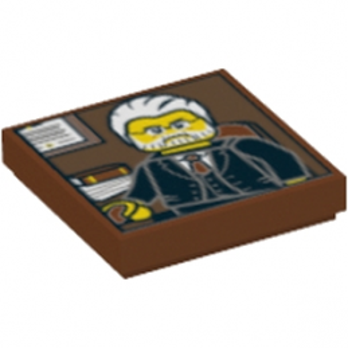 LEGO 6142949 - PLATE LISSE 2X2 - IMPRIME