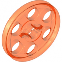 LEGO 4169356 WEDGE-BELT WHEEL Ø24 - ORANGE FLUO TRANSPARENT