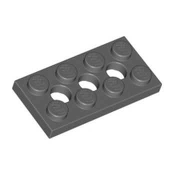 LEGO 4227398 PLATE 2X4, 3XØ4.9 - DARK STONE GREY