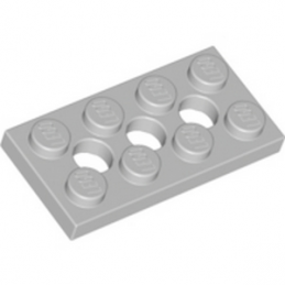 LEGO 4211444  PLATE 2X4, 3XØ4.9 - MEDIUM STONE GREY