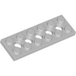 LEGO 4211542 PLATE 2X6 W. HOLES - MEDIUM STONE GREY