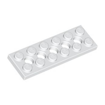 LEGO 3200101 PLATE 2X6 W. HOLES - BLANC