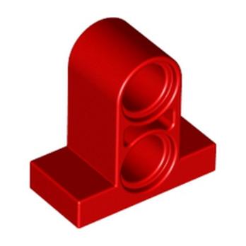 LEGO 3253021 T-BEAM W. PLATE 1X2 W. TUBE - ROUGE