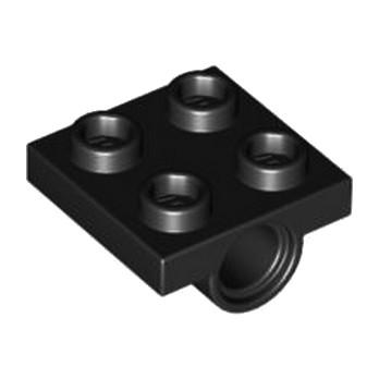 LEGO 244426 TECHNIC BEARING PLATE 2X2 - NOIR