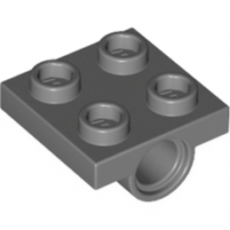 LEGO 4196768 TECHNIC BEARING PLATE 2X2 - DARK STONE GREY