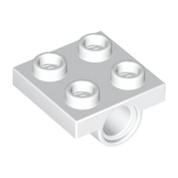 LEGO 244401 TECHNIC BEARING PLATE 2X2 - BLANC