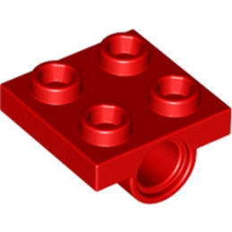LEGO 244421 TECHNIC BEARING PLATE 2X2 - ROUGE