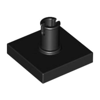 LEGO 246026 PLATE 2X2 W. VERTICAL SNAP - NOIR