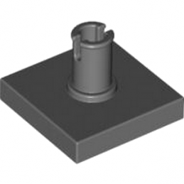 LEGO 4211129 PLATE 2X2 W. VERTICAL SNAP - DARK STONE GREY