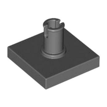 LEGO 4211129 PLATE 2X2 W. VERTICAL SNAP - DARK STONE GREY