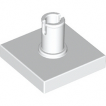 LEGO 246001PLATE 2X2 W. VERTICAL SNAP - BLANC