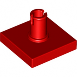 LEGO 246021 PLATE 2X2 W. VERTICAL SNAP - ROUGE