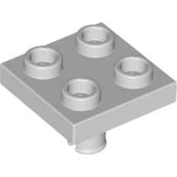 LEGO 4211763 PLATE 2X2 INVERTED W. SNAP - MEDIUM STONE GREY